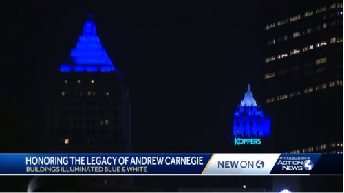 Lights commemorate Carnegie
